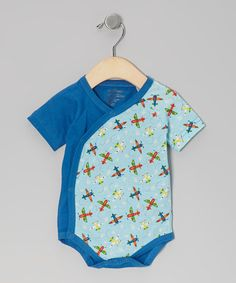 Take a look at this Blue Airplane Organic Bodysuit - Infant by My O Baby on #zulily today!