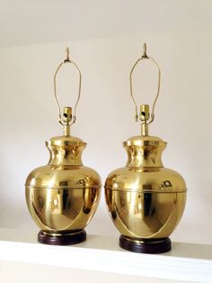 Vintage Brass Urn Lamp - Hollywood Regency Lamp - Chinoiserie - Ginger Jar Lamp