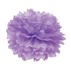 Lilac Purple 15 Inch Tissue Paper Flower Pom-Pom