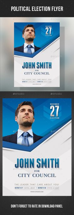 Voter Election Flyer Template BundleVol   Flyer Template