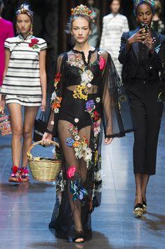 Dolce & Gabbana Primavera/ Verano 2016  Milan Fashion Week Dolce & Gabbana