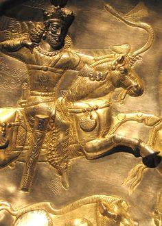Detail of a 4th century CE gilded plate from the Sasanian period depicting a hunting scene. The capital of the Sassanid Persian Empire: Seleucia-Ctesiphon (near modern-day Baghdad) was one of the largest cities in the world. Freer and Sackler Galleries of the Smithsonian Institution, Washington, DC. Photo by Babylon Chronicle