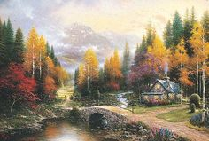 Thomas Kinkade / The Valley of Peace / Ceaco