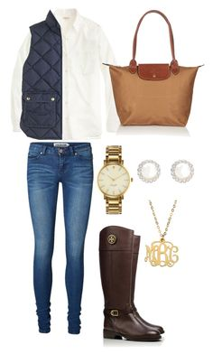 """Excursion Vest"" by econgdon ❤ liked on Polyvore featuring Vero Moda, J.Crew, Snö Of Sweden, Tory Burch, Kate Spade and Longchamp"