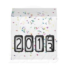 2013 New Years Odometer On White Confetti Envelope