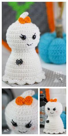 Crochet Pumpkin Pattern, Halloween Crochet Patterns, Crochet Amigurumi Free Patterns, Crochet Animal Patterns, Knitting Patterns, Crochet Fall, Holiday Crochet, Crochet Gifts, Cute Crochet