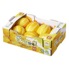 Learn Korean! These are 참외('Cham-wae')...Korean melons, eaten in the summer!