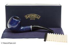 Savinelli Arcobaleno 626 Blue Tobacco Pipe - Smooth