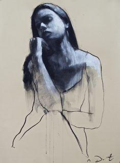 Georgina Ⅱ /ジョー ジア Ⅱ /76.5×56cm/パステ ル、紙/2015