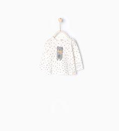 ZARA - NIÑOS - Camiseta algodón orgánico estrellas