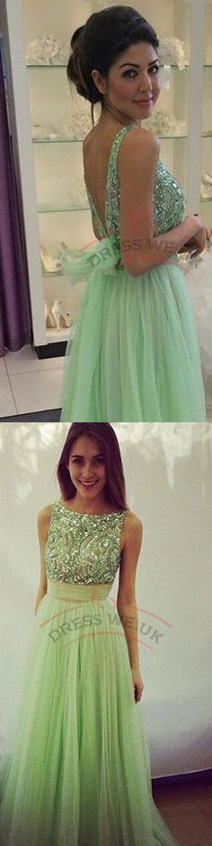 Classy Long Prom Dresses,Round Prom Dresses,Chiffon Sequins Prom Dresses,Sleeveless Backless Prom Dresses