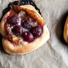 Brioche Circles with Brie and Cherries on Food52