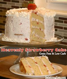 Heavenly Strawberry Cake (Grain-Free and Low Carb) | Satisfying Eats
