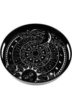 Sky Spirit Serving Tray - Shop Now - us.KILLSTAR.com Gothic Kitchen, Halloween Supplies, Goth Home, Horror, Sun Designs, Round Tray, Gothic House, Circle Shape, Cute Mugs
