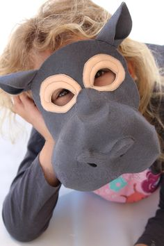 Felt Hippo Mask Pattern PDF. INSTANT DOWNLOAD pattern by EbonyShae
