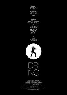 """1962 """"Dr. No"""" poster with Sean Connery as Bond and also starring Ursula Andress 