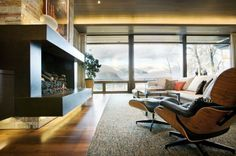 Eames Style Lounge Chair and Ottoman by Rove Concepts - midcentury - Living Room - Vancouver - Rove Concepts Modern Windows And Doors, Contemporary Windows, Contemporary Interior Design, Modern Contemporary, Modern Design, Modern Mountain Home, Aspen Mountain, Lounge Chair, Comfy Chair