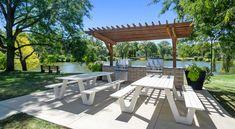 Grill up some grub, lakeside! #Amenities #Views #WI #Apartments #ReNewMadison #IAmRenewed #Madison