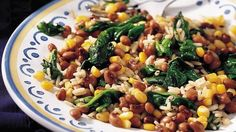 Who says stir-fry has to be Asian?  Enjoy this zesty blend of rice, corn, black-eyed peas and spinach.
