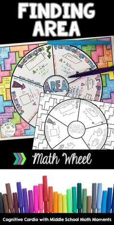 Try this graphic organizer to help your math students learn or review finding area. They can color the background and add to their interactive notebooks! #math