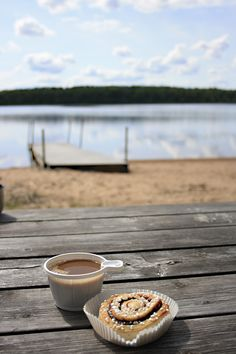 Fika--the Swedish coffee break, always with buns or cakes.