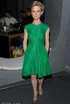 Green envy: Emilia Fox wowed in an emerald green dress as she enjoyed a night out at a Gordon's gin event in London last night Emilia Fox Silent Witness, British Actresses, Actors & Actresses, Gordon's Gin, Emerald Green Dresses, Classy Girl, Love Her Style, Famous Faces, Beautiful People