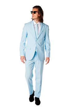 OppoSuits Cool Blue Kostuum | Lichtblauw pak