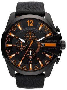 Diesel Mega Chief Chronograph Black Dial 100M DZ4291 Mens Watch