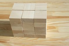 Wood blocks set of 30 unfinished DIY material by StuffOfWood