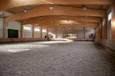 Spacious covered riding arena Building A Small House, Riding Lessons, Horse Property, Lake View, Go Outside, Stables, Finland, Interior And Exterior, Indoor Outdoor