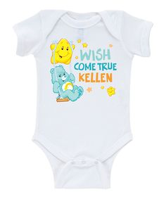Take a look at this Care Bears 'Wish Come True' Personalized Bodysuit - Infant today!