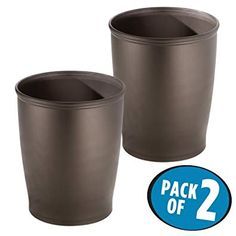 Mdesign Round Shatter Resistant Plastic Small Trash Can Wastebasket Garbage Container Bin For Bathrooms