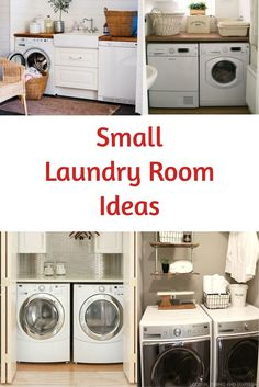 Great ideas for a small apartment laundry area or any Small Laundry Rooms