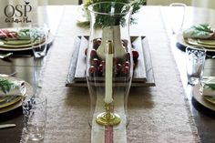 Christmas Table Setting Ideas | Easy, inexpensive inspiration | onsuttonplace.com