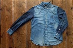 画像9: ★再入荷★Jackman - Baseball shirt (6oz Denim)  Blue×Navy