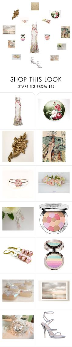 """""""Pretty florals"""" by einder ❤ liked on Polyvore featuring Alexander McQueen, Guerlain, Ciaté and Ralph & Russo"""
