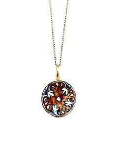 Hearts on Fire Pendant - Disc Fire Heart, Hearts, Pendants, Hand Painted, Pendant Necklace, Jewellery, Chain, Silver, Jewels