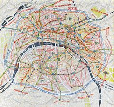 Paris Map Painting by Paula Scher.