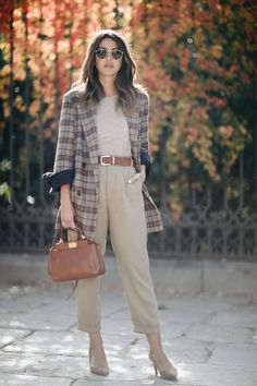 jacket: Storets (au/w pants: Zara (au/w bag: Fendi shoes: Mango (old) sunglasses: Ray Ban sweater: Mango (old) Casual Friday Outfit, Casual Winter Outfits, Paris Outfits, Fashion Outfits, Womens Fashion, Fashion Hats, Work Outfits, Teacher Outfits, Fashion Top