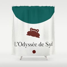 LOdyssée de Syd Shower Curtain (Rideau de douche) by @jbrkmr - $68.00