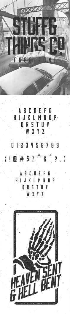Stuff & Things Co. is a free hand drawn display font with capital and small cap lowercase.