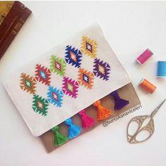 Ikat cross stitch pattern, image from my customer, Easy cross stitch, Embroidery pattern, needlework, craft, diy, dmc floss