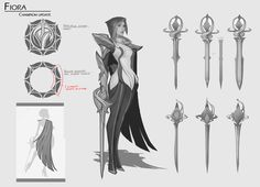2D Concept for Fiora champion update, a character from League of Legends. Artwork copyright Riot Games.
