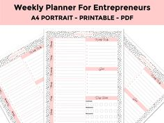 Your Shop - Manage Listings Weekly Planner Printable, Email Campaign, Blog Planner, Setting Goals, Social Media Tips, Entrepreneur, Planners, Printables, How To Plan