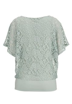 opal green faux pearl lace dolman top - maurices.com