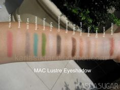 Mac lustre eyeshadows karlasugar.net