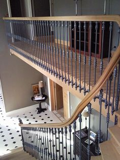 Inventive Staircase Design Tips for the Home – Voyage Afield Redo Stairs, Entryway Stairs, House Stairs, Luxury Staircase, Small Staircase, Staircase Design, Wrought Iron Stair Spindles, Iron Stair Railing, Railings