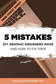Depending on your graphic design experience, you may still be making a few of these 5 mistakes that DIY graphic designers make. Luckily, they're all super easy to fix, so click through to find out if you're making these mistakes too!