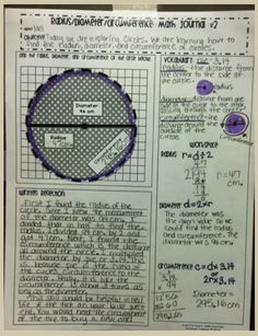 circle vocabulary math journal