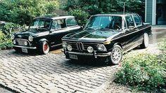 Mini Cooper and BMW 2002tii-------had the 2002tii, so when I turned 62, I got my Mini Cooper :)